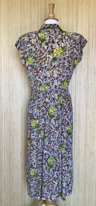 1930's Helen Scott City Print Dress (M)