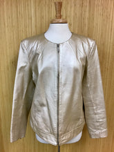 Load image into Gallery viewer, Dialogue Gold Leather Jacket (XL)
