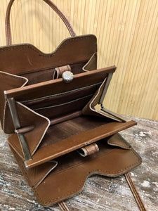 Leather Accordion Purse