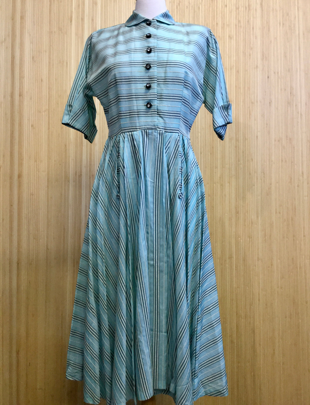Vintage Striped Midi Dress (S)