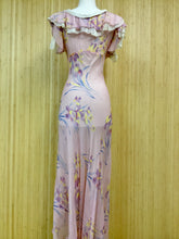 Load image into Gallery viewer, Sheer Floral Maxi Dress (XS)