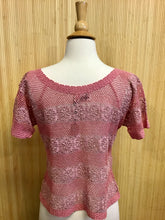 Load image into Gallery viewer, Lim's 100% Cotton Crochet Shirt (M)