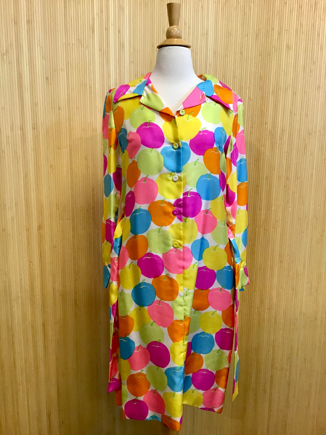Tanner of North Carolina Neon Apple Shirt Dress (M)