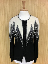 Load image into Gallery viewer, Knit Angora & Beaded Cardigan (S)