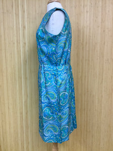 Pure Silk Avalon Paisley Dress (L)
