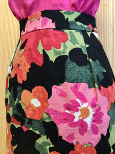 Tabitha Contrast Floral Dress (XS)