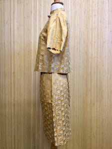1950's Seibu Silk Skirt Set (XS)
