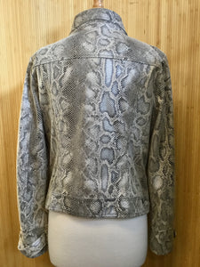 Kut from the Kloth Faux Snakeskin Jacket (L)
