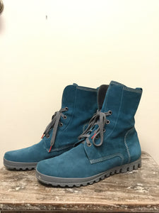 Think! Teal Suede Boots (11)