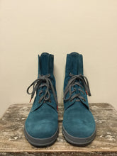 Load image into Gallery viewer, Think! Teal Suede Boots (11)