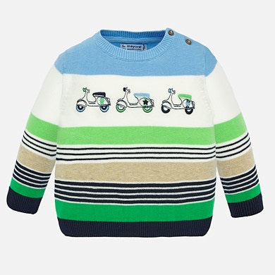 Scooter Block Sweater