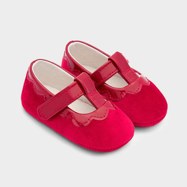 Velvet Shoes - Red