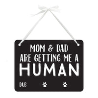 Pet Baby Announcement Chalkboard