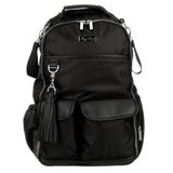 Boss Backpack, Black Herringbone