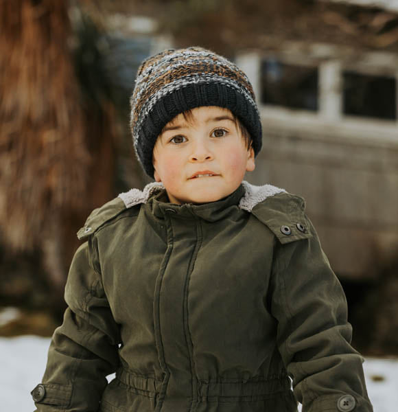 Children's Beanie - Miles, Rust