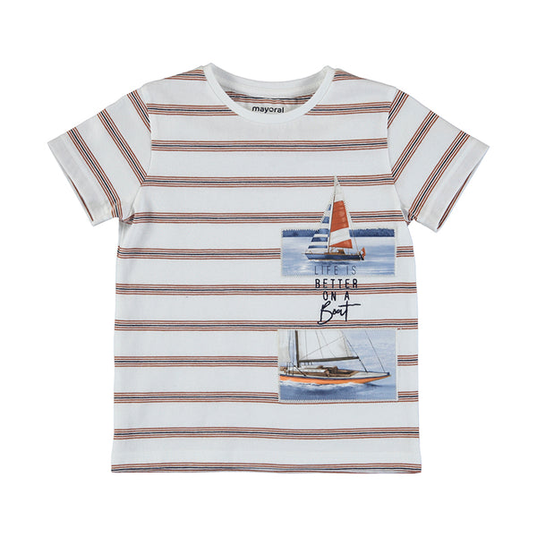 Striped Sailing Tee - Clay
