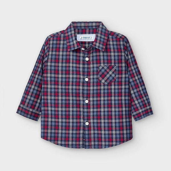 Button Up Shirt - Blue/Red Plaid