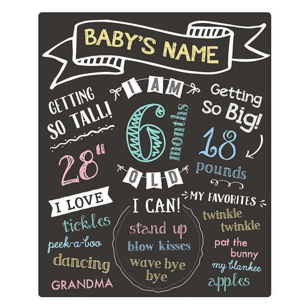 All About Baby Chalkboard Sign