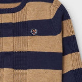 Striped Sweater - Almond & Navy