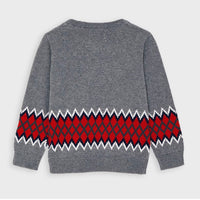 Sweater - Grey/Red