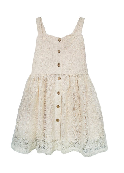 Lace Knit Dress - Ivory