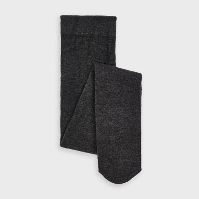 Woven Footed Tights - Charcoal