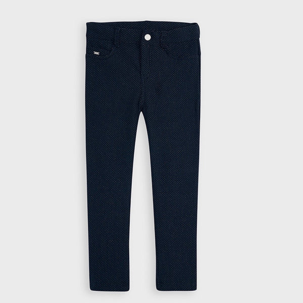 Long Plush Pants - Navy with Silver Speck