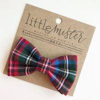 Bow Tie - Red Holiday Plaid