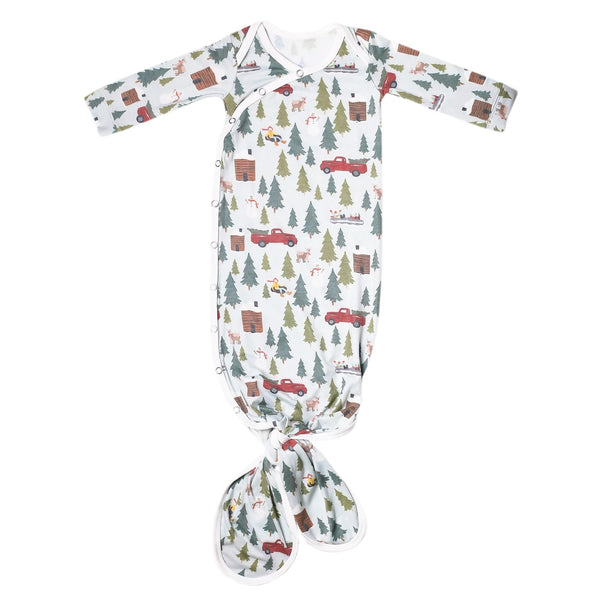 Newborn Knotted Gown - Kringle