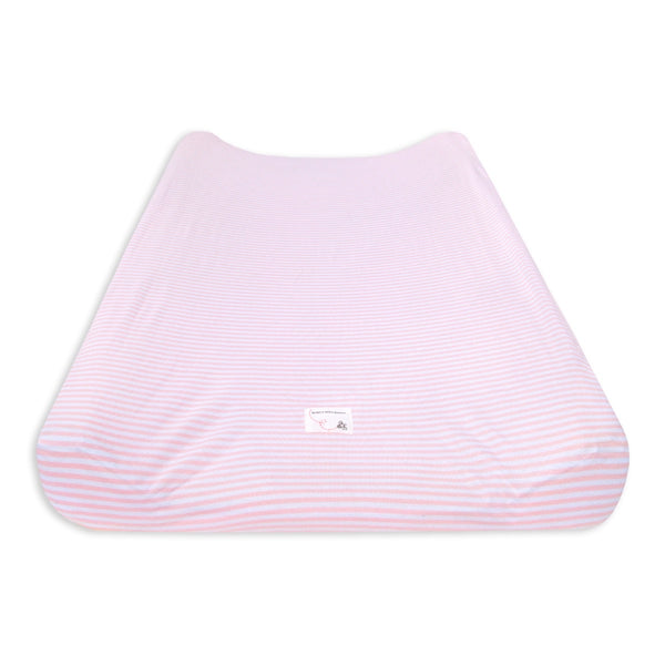 Changing Pad Cover - Essentials Striped, Blossom