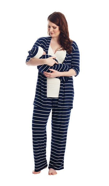 Analise 5 Piece Set - Navy & Cream Stripe
