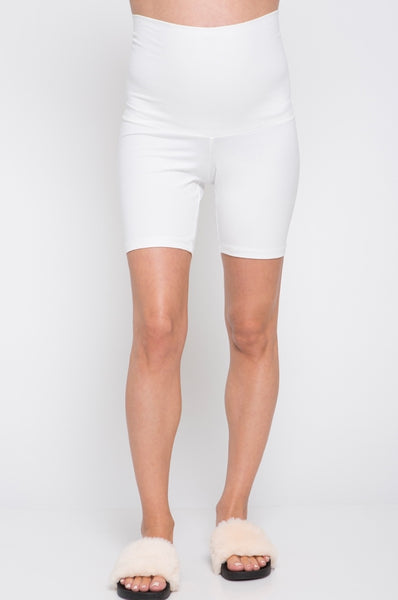 Maternity Short Leggings - White