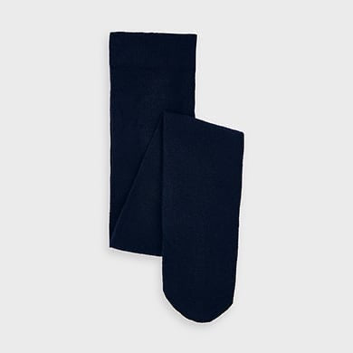 Woven Footed Tights - Navy Blue