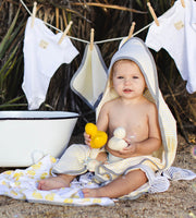 Organic Cotton Hooded Towels - Little Ducks, 2 Pack