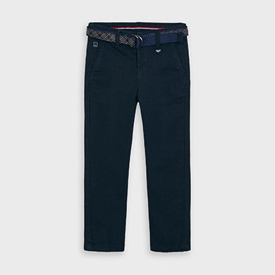 Chino Pant with Belt - Navy