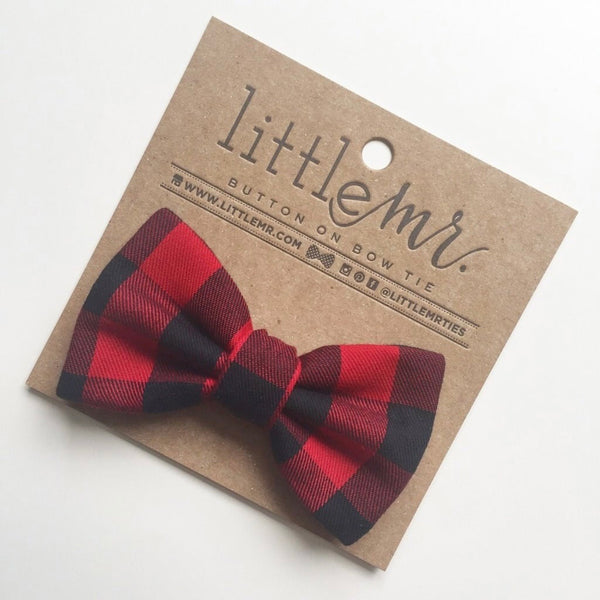 Bow Tie - Red Buffalo Plaid