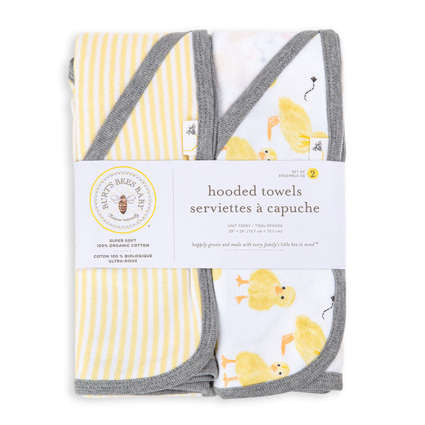 Organic Cotton Hooded Towels - 2 Pack, Little Ducks