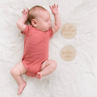 Wooden Monthly Milestone Photo Cards