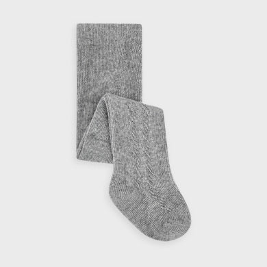 Woven Footed Tights - Grey