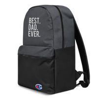 Best Dad Ever Embroidered Champion Backpack