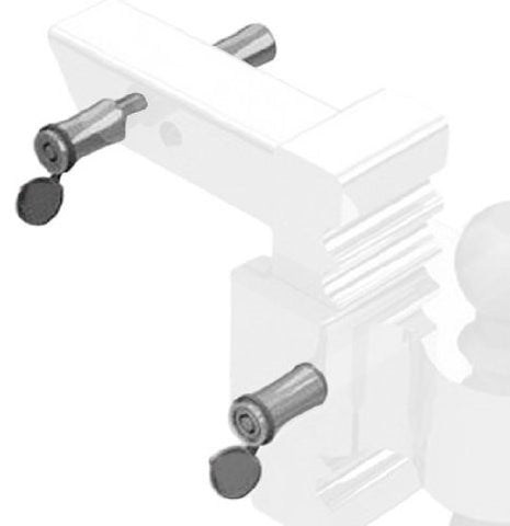 "Andersen 3492 Rapid Hitch Lock Pin Set (Polished) - Fits 2"" and 2-1/2"" Receivers"