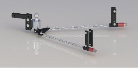 "Andersen 3350 4 inch No-Sway Weight Distribution Hitch - 4"" drop/rise, 2-5/16"" ball, universal frame brackets (3"", 4"", 5"" & 6"")"