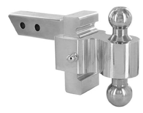 "Andersen 3460 4 inch Rapid Hitch (Polished) - Plated Steel Combo Ball - 2"" x 2-5/16"""