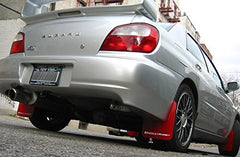 Rally Armor UR Mud Flaps - 02-07 WRX & STi Red w/ White Logo