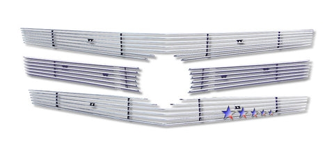 APS A65257A Aluminum Billet Grille for Cadillac CTS (Polished) - Main Upper