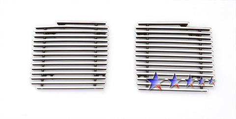 APS A65812A Aluminum Billet Grille for Cadillac CTS (Polished) - Fog light Cover