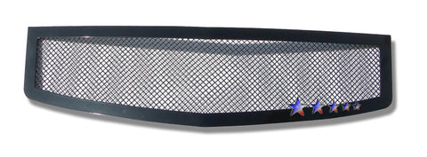 APS A75368H Black Wire Mesh Grille for Cadillac CTS (Black Powder Coated) - Main Upper
