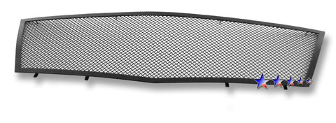 APS A76577H Black Wire Mesh Grille for Cadillac CTS (Black Powder Coated) - Main Upper