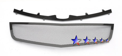 APS A76761H Black Wire Mesh Grille for Cadillac DTS (Black Powder Coated) - Main Upper