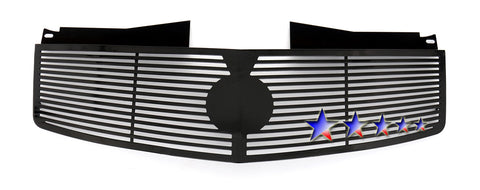 APS A95368H Black Perimeter Grille for Cadillac CTS (Black Powder Coated) - Main Upper